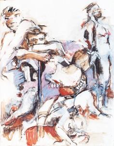 Olivier-Ognibene-2-(craie et aquarelle)
